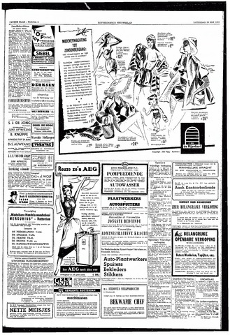 Rotterdamsch Nieuwsblad / Schiedamsche Courant / Rotterdams Dagblad / Waterweg / Algemeen Dagblad 1953-05-30