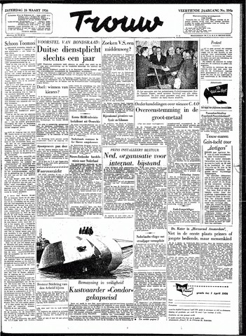 Trouw / De Rotterdammer 1956-03-24