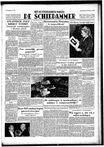 Rotterdamsch Parool / De Schiedammer 1949-11-24