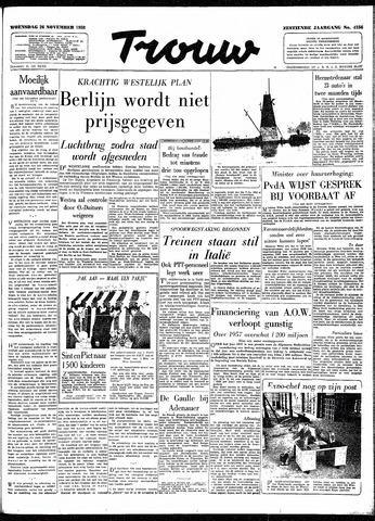Trouw / De Rotterdammer 1958-11-26