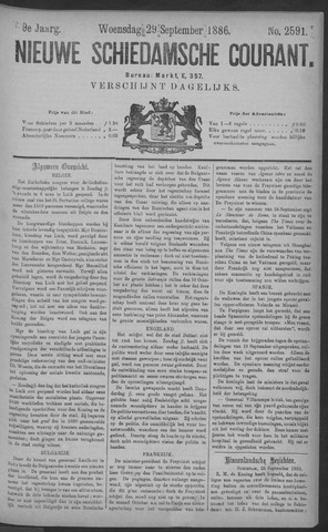 Nieuwe Schiedamsche Courant 1886-09-29