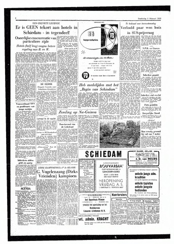 Rotterdamsch Parool / De Schiedammer 1955-02-03