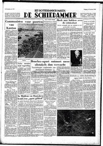 Rotterdamsch Parool / De Schiedammer 1949-10-14