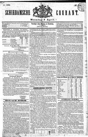 Schiedamsche Courant 1862-04-07