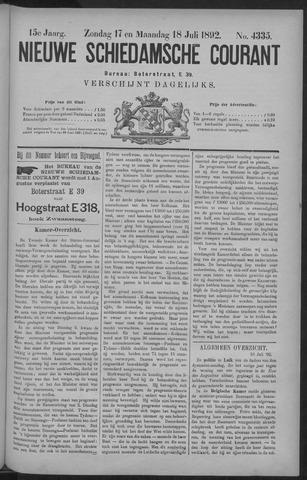 Nieuwe Schiedamsche Courant 1892-07-18