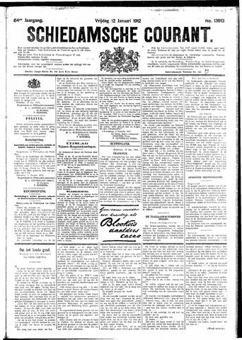 Schiedamsche Courant 1912-01-12