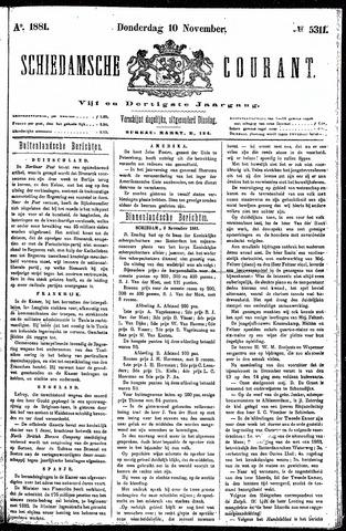 Schiedamsche Courant 1881-11-10
