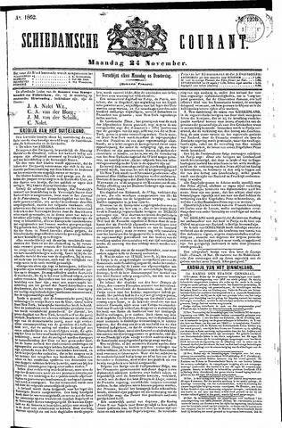 Schiedamsche Courant 1862-11-24