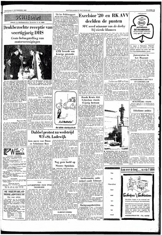 Rotterdamsch Nieuwsblad / Schiedamsche Courant / Rotterdams Dagblad / Waterweg / Algemeen Dagblad 1959-11-09