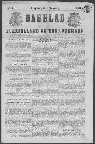 Dagblad van Zuid-Holland 1860-02-17
