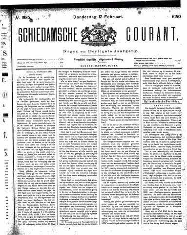 Schiedamsche Courant 1885-02-12