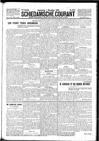 Schiedamsche Courant 1929-11-07