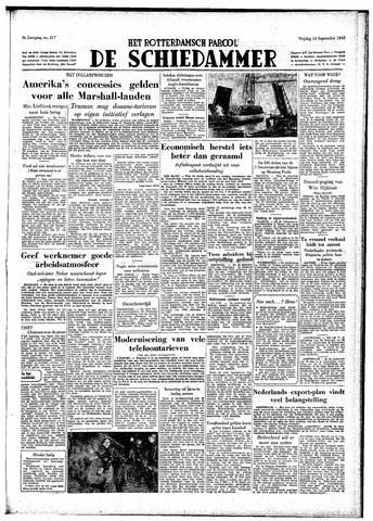Rotterdamsch Parool / De Schiedammer 1949-09-16