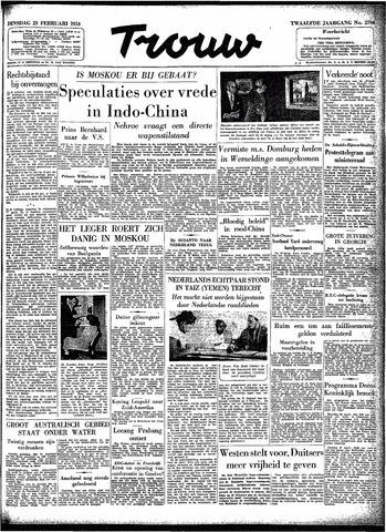 Trouw / De Rotterdammer 1954-02-23