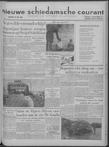 Nieuwe Schiedamsche Courant 1958-05-24