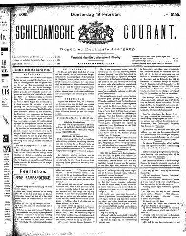 Schiedamsche Courant 1885-02-19
