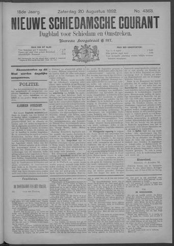 Nieuwe Schiedamsche Courant 1892-08-20