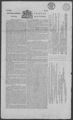 Rotterdamse Courant 1836-02-27