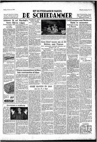 Rotterdamsch Parool / De Schiedammer 1949-01-14