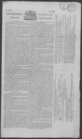 Rotterdamse Courant 1835-08-27