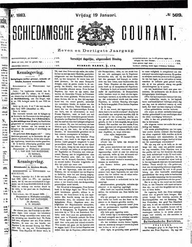 Schiedamsche Courant 1883-01-19