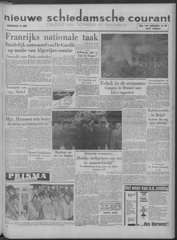Nieuwe Schiedamsche Courant 1958-06-12