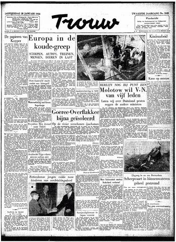 Trouw / De Rotterdammer 1954-01-28