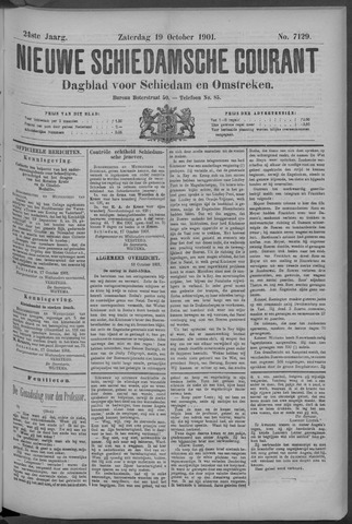 Nieuwe Schiedamsche Courant 1901-10-19