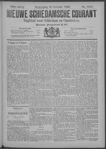Nieuwe Schiedamsche Courant 1892-10-19