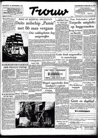 Trouw / De Rotterdammer 1957-09-23