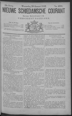 Nieuwe Schiedamsche Courant 1892-01-20