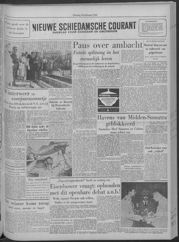 Nieuwe Schiedamsche Courant 1958-02-18