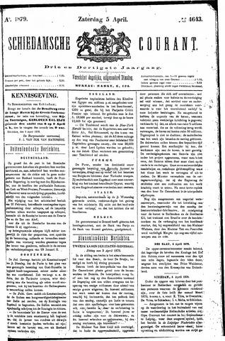 Schiedamsche Courant 1879-04-05