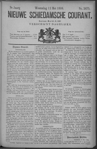 Nieuwe Schiedamsche Courant 1886-05-12