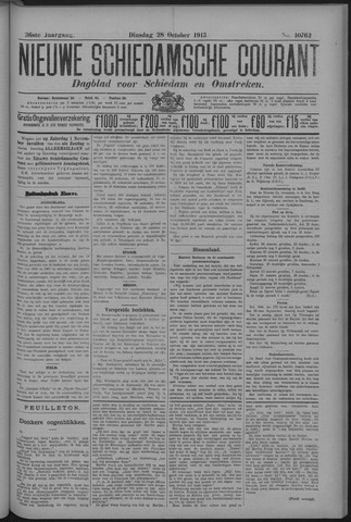 Nieuwe Schiedamsche Courant 1913-10-28