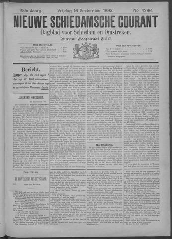Nieuwe Schiedamsche Courant 1892-09-16