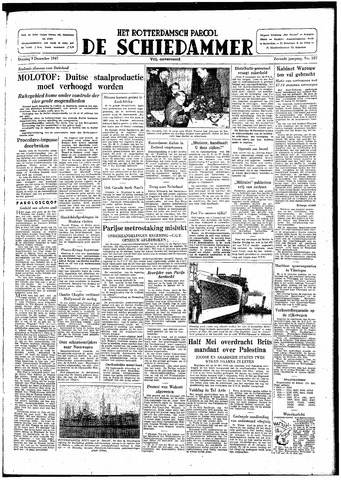 Rotterdamsch Parool / De Schiedammer 1947-12-09