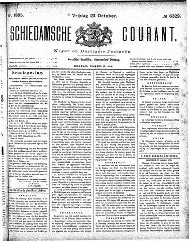 Schiedamsche Courant 1885-10-23