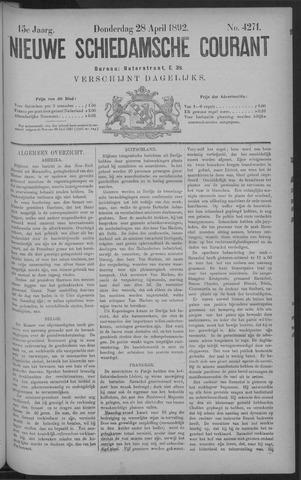 Nieuwe Schiedamsche Courant 1892-04-28