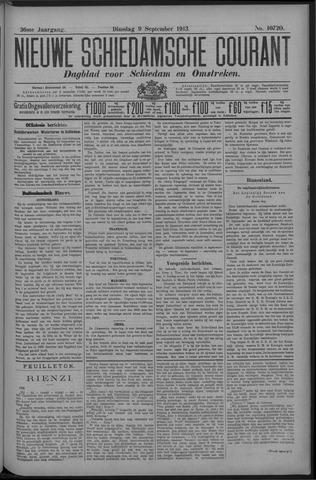Nieuwe Schiedamsche Courant 1913-09-09