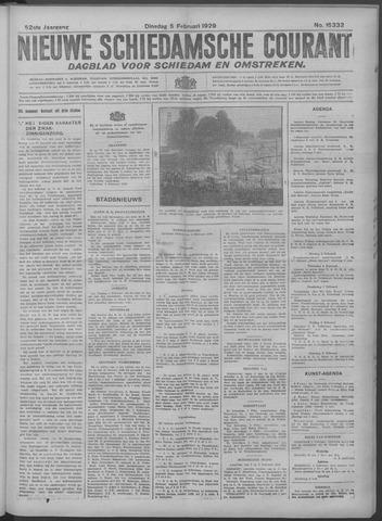 Nieuwe Schiedamsche Courant 1929-02-05