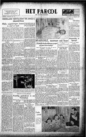 Rotterdamsch Parool / De Schiedammer 1947-02-19