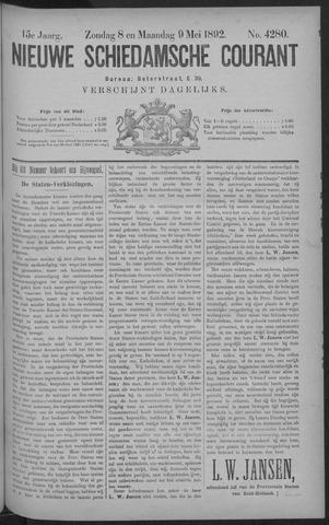 Nieuwe Schiedamsche Courant 1892-05-09