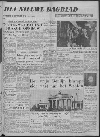 Nieuwe Schiedamsche Courant 1961-09-09
