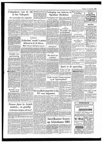 Rotterdamsch Parool / De Schiedammer 1955-09-13