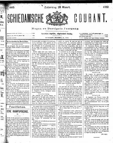Schiedamsche Courant 1885-03-28