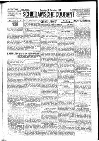 Schiedamsche Courant 1931-11-18