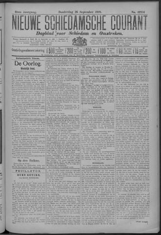 Nieuwe Schiedamsche Courant 1918-09-26
