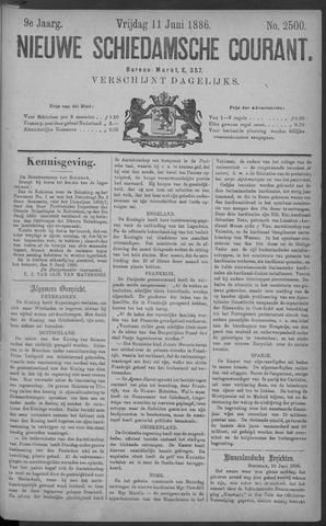 Nieuwe Schiedamsche Courant 1886-06-11