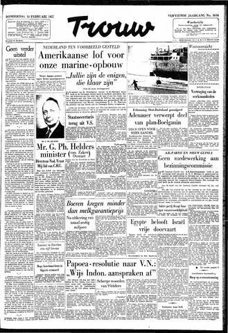 Trouw / De Rotterdammer 1957-02-14